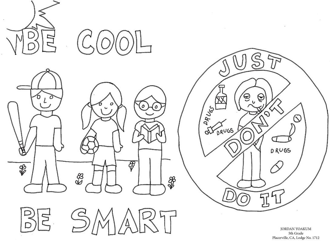 drug awareness coloring pages - photo#7