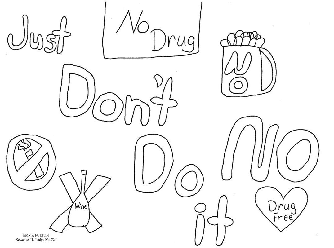 Just Say No To Drugs - Coloring Pages For Kids And For Adults ... | 800x1077